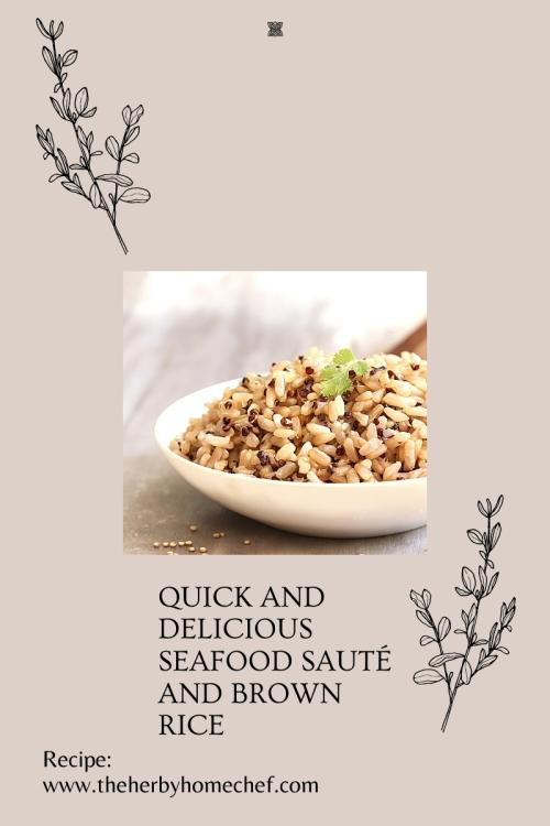 seafood sauté and brown rice Recipe blog image